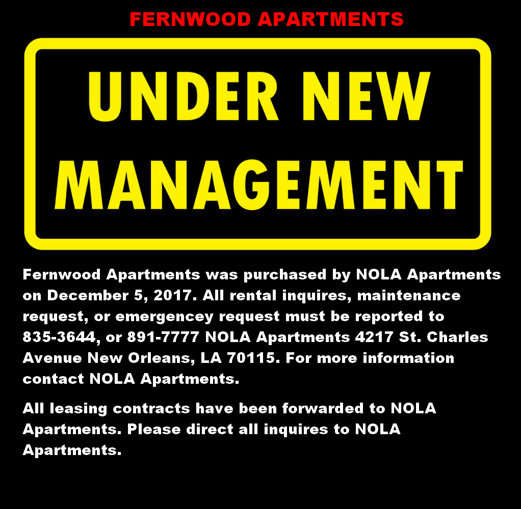 Apartments In Metairie: Fernwood Apartments: Metairie Lakeview